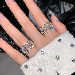 True Glam(トゥルーグラム) - Rhinestone Open Ring