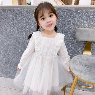 Cuckoo - Kids Long-Sleeve A-Line Dress
