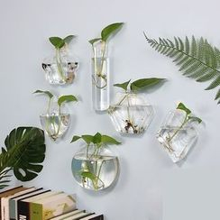 Kimkom - Wall Hanging Glass Vase (various designs)