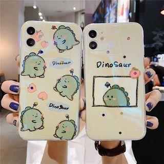 Zone Zero(ゾーンゼロ) - Dinosaur Print Phone Case - iPhone 11 Pro Max / 11 Pro / 11 / SE / XS Max / XS / XR / X / SE 2 / 8 / 8 Plus / 7 / 7 Plus