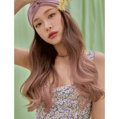 pinkage - Fringed Wavy Long Full Wig in Salon Ash Ombre Colors
