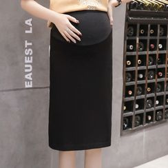 EZ Life - 孕妇纯色塑身裙