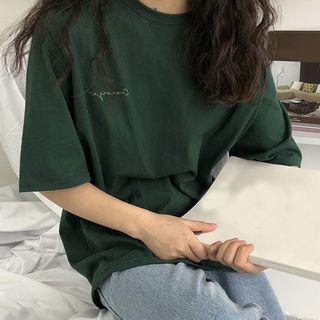 Tonni's - Short-Sleeve Lettering T-Shirt