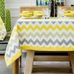 iMpressee - Chevron Linen Cotton Tablecloth