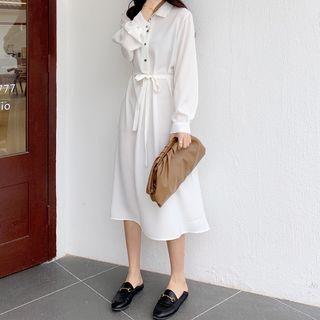 OXCA - 長袖中身襯衫裙