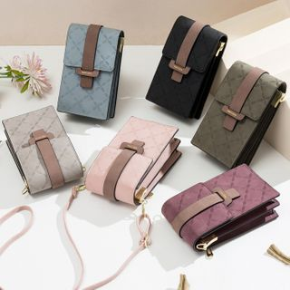 tablarosa(タブラロザ) - Floral Buckled Crossbody Mobile Phone Pouch