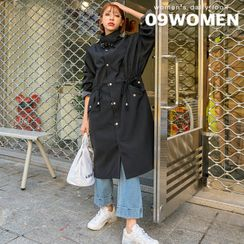 Seoul Fashion - PLUS SIZE Buckle High-Neck Parka