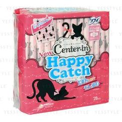 Unicharm 舒蔻 - Center-In Happy Catch 護翼衞生巾 21cm