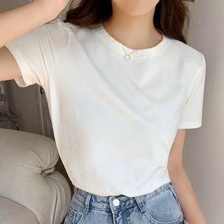 Luna Rouge - Short-Sleeve Plain T-Shirt