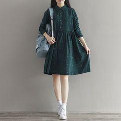 Fancy Show - Corduroy Collared Dress