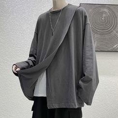 JUN.LEE - Slit Oversize Long-Sleeve Top