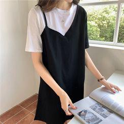 Racoon - 仿两件短袖T裇裙