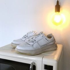 Algodon(アルゴドン) - Retro Faux Leather Sneakers