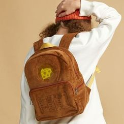 Nibby - Embroidered Corduroy Backpack