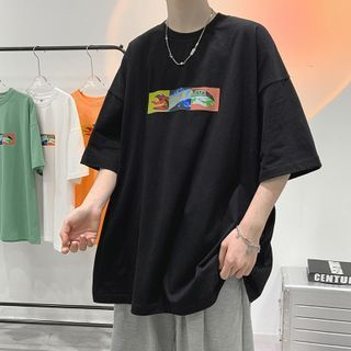 JUN.LEE - Printed Short-Sleeve T-Shirt