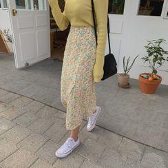 CHERRYKOKO - Bloom Long Wrap Skirt