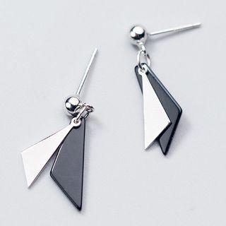 A'ROCH(エーロック) - 925 Sterling Silver Geometric Drop Earring
