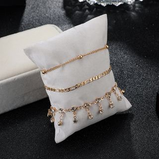 Yongge - Set of 3: Rhinestone Anklet (assorted designs)