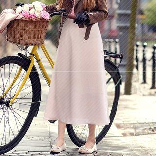VIZZI - A-Line Midi Chiffon Skirt