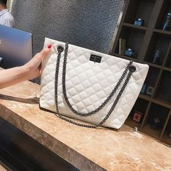 Aishang - Quilted Faux Leather Shoulder Bag