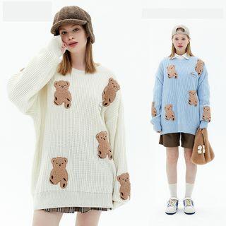 Kendeshi - Teddy Bear Print Sweater