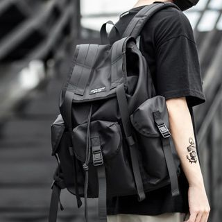 Moyyi - Buckled Flap Backpack