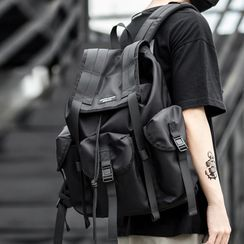 Moyyi - Buckled Flap Backpack