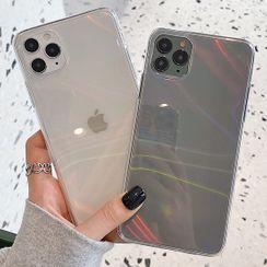 Merito - Iridescent Transparent Phone Case -  iPhone 12 Pro Max / 12 Pro / 12 / 12 Mini / 11 Pro Max / 11 Pro / 11 / Xs Max / Xr / Xs / X / 8 Plus / 8 / 7 Plus / 7
