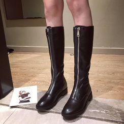 Alisse - 拉鏈高身靴