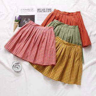 Amoura - Mini Plaid Pleated Skirt