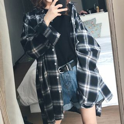 Rocho - Oversized Plaid Shirt