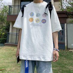 Lazi Boi - Short-Sleeve Printed T-Shirt