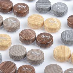 KAZZED - Wood Print Contact Lens Case