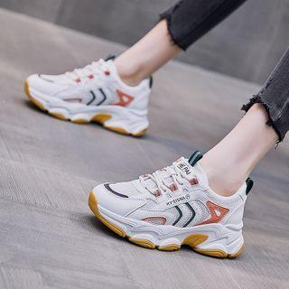 Shanhoo - Mesh Platform Platform Athletic Sneakers