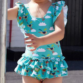 Roseate - Kids All Over Print Swim Dress