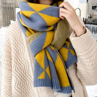 Amandier - Patterned Knit Scarf
