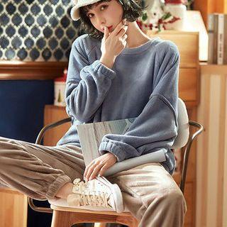 Jeony - Long-Sleeve Loungewear Set