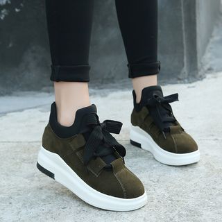 Wello - Faux Suede Platform Sneakers