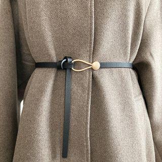 Aquila - Faux Leather Slim Belt