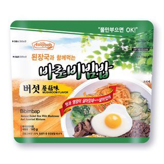 Easybab - Bibimbap Mushroom Flavor with Korean Bean Paste Soup 140g