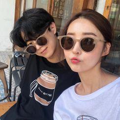 Aisyi - 復古圓形太陽眼鏡