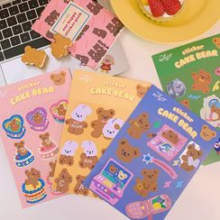 Yunikon - Bear Stickers - 4 Types