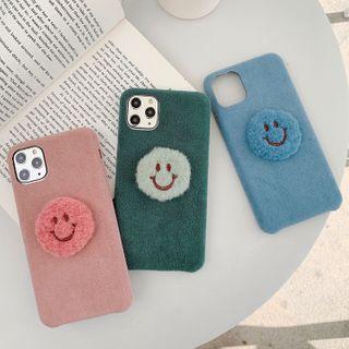 Aion - 毛绒笑脸11Pro/Max苹果X/XS/XR适用手机壳iPhone7p/8plus秋冬女款