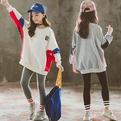 Cuckoo - Kids Color Block Pullover / Sweatpants / Set