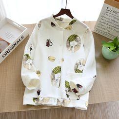 Dogini - Printed Long-Sleeve Pajama Top