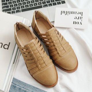 Cinnabelle - Low Heel Woven Oxfords