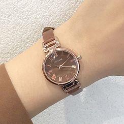 Moska - Faux Leather Strap Watch