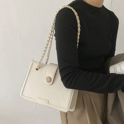 Kazaram - Chain Faux Leather Shoulder Bag