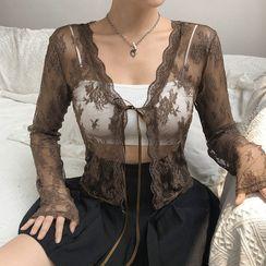 Sosana - Long Sleeve Lace Cover-Up