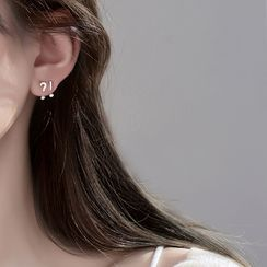 Furando - 925 Sterling Silver Rhinestone Stud Earring
